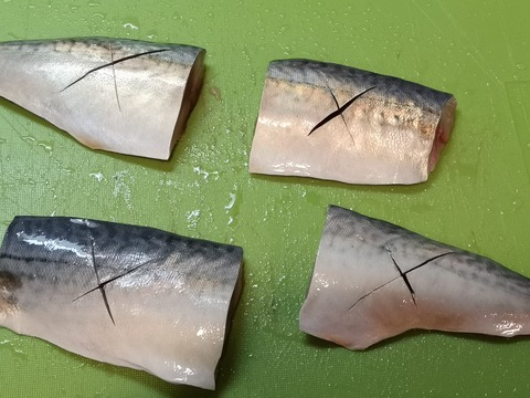 鯖のにんにく味噌煮 (2)
