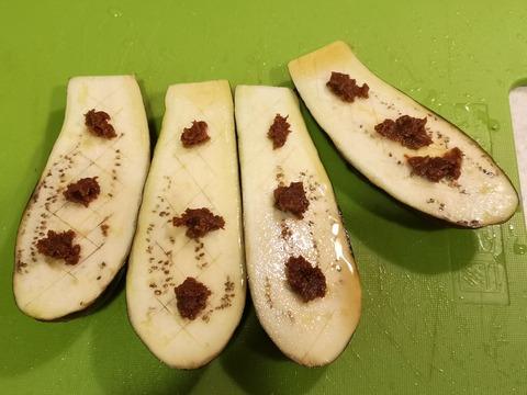 茄子のごま味噌焼き (3)