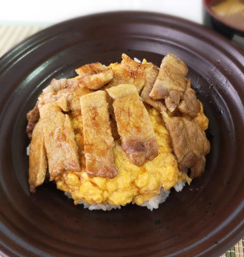 豚照り玉丼 (1)