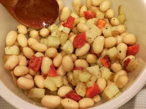 蒸し大豆と根菜のダイスサラダ (5)