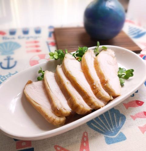 鶏むね肉の醤油焼き (1)