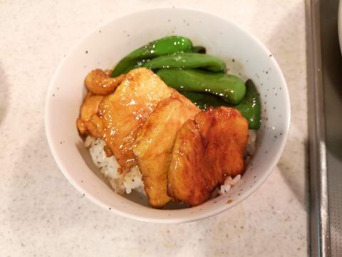 鶏むね肉の照焼き丼 (9)