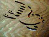 高桐院鳥の彫り