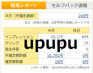 うぷぷ人生A8.netの6月収入(未確定報酬)