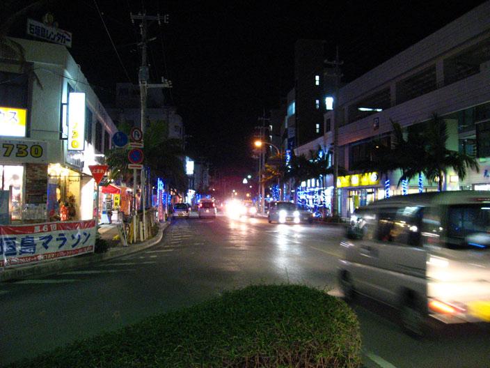 730交差点の夜景