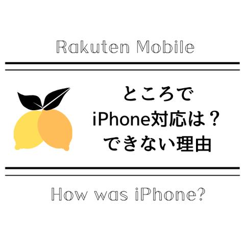 楽天とiPhone
