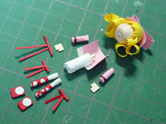 安価で紙製指乗り薔薇乙女作る