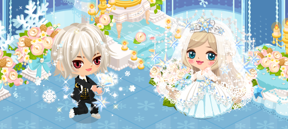 雪の結晶結婚式ガチャ