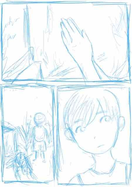 [静原舞香]創作漫画41『ダリ、兄の墓場の前で(実話をもとに)』