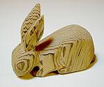 木彫りのうさぎ