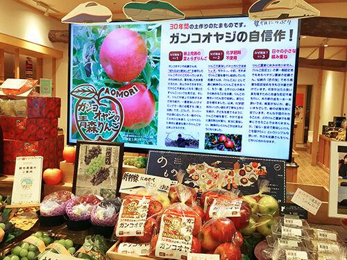 新幹線で輸送した『ガンコオヤジの早生りんご』