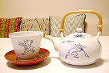 鳥獣戯画のお茶碗と急須