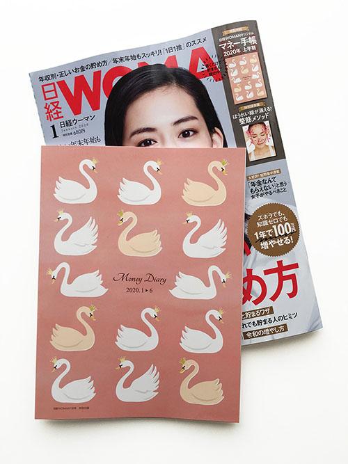 日経WOMAN 1月号 付録「オリジナルマネー手帳」表紙