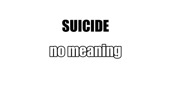 SUICIDE NO MEANING