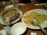 横浜ベイサイドマリーナの土鍋麺(食べかけ・笑)