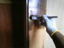 木部着色保護塗料塗布