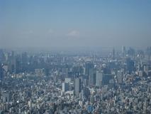 天望デッキからの富士山