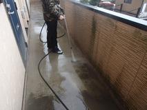 高圧水洗浄作業