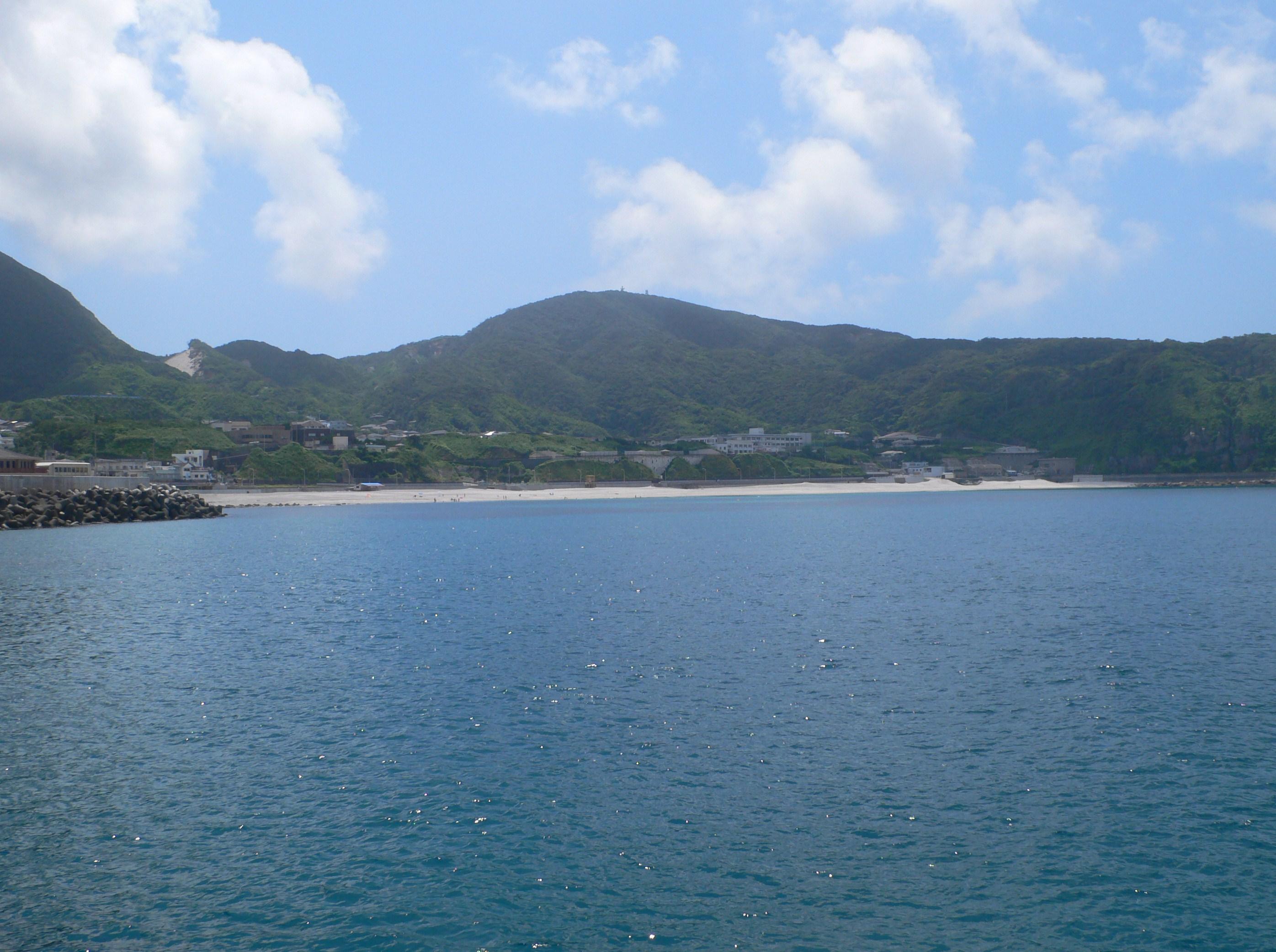 初日に遊んだ前浜海岸