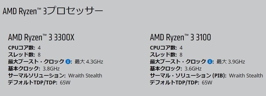 4コア/8スレッドのAMD「Ryzen 3 3300X」「Ryzen 3 3100」が発売