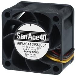 業界トップの高静圧を実現した40×28mm厚高静圧ファン、山洋電気「San Ace 40」 9HVAタイプを発売
