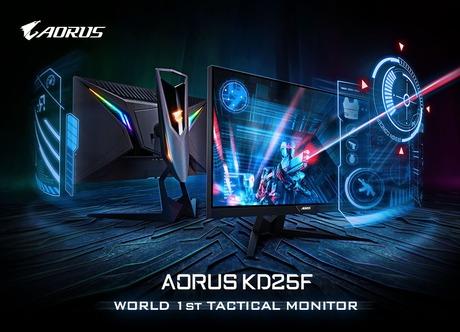 240Hz/0.5msに対応する24.5インチゲーミング液晶ディスプレイ、GIGABYTE「AORUS KD25F」