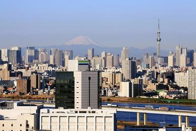 東京タワーの場所に東京スカイツリー