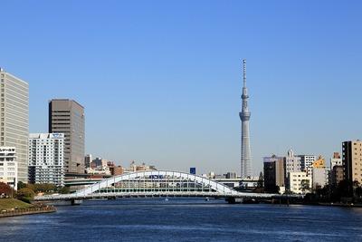 永代橋と東京スカイツリー