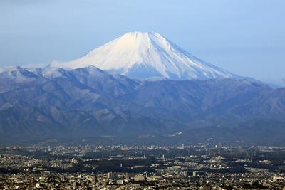 東京スカイツリーの天望回廊から見た富士山