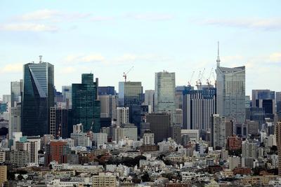 恵比寿ガーデンプレイスタワーから見た東京スカイツリー