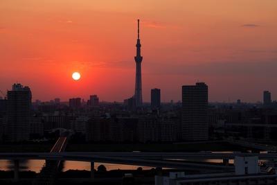 夕焼けと東京スカイツリー