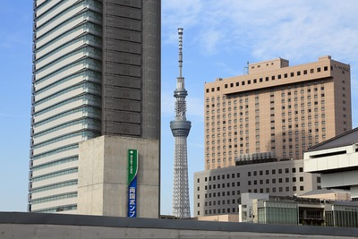 両国駅から見た東京スカイツリー