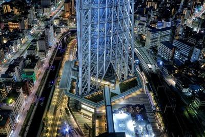 東京スカイツリーイーストタワーから見た東京スカイツリー
