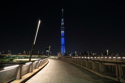 桜橋から見た東京スカイツリー