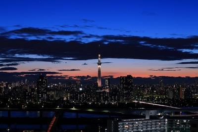 トワイライトタイムの東京スカイツリー「雅」