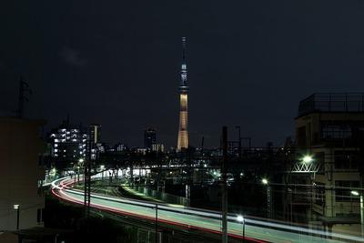 東京スカイツリー夜景「金メダル」