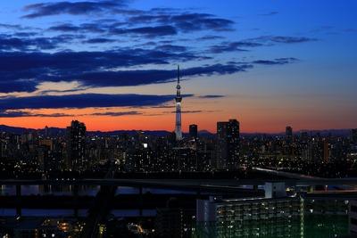 2018年大晦日の東京スカイツリー