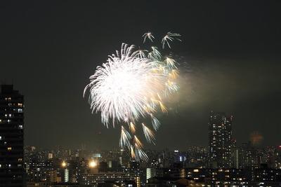 亀戸地区夏祭りの花火