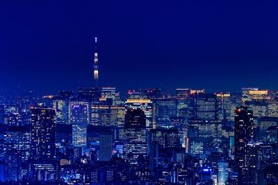 渋谷スカイから見た東京スカイツリー夜景