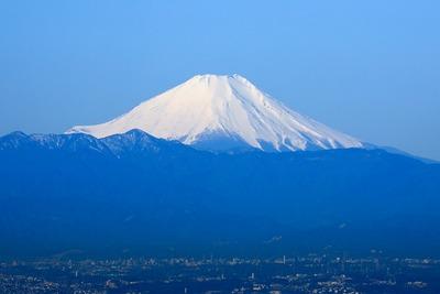 東京スカイツリーから見た富士山