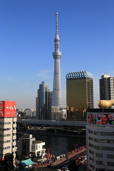浅草文化観光センターから見た東京スカイツリー