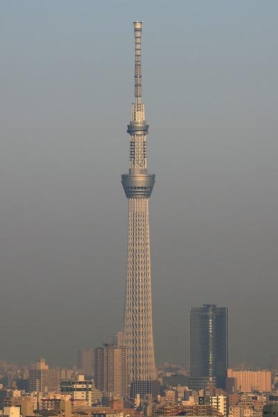 東京スカイツリーの高光度航空障害灯