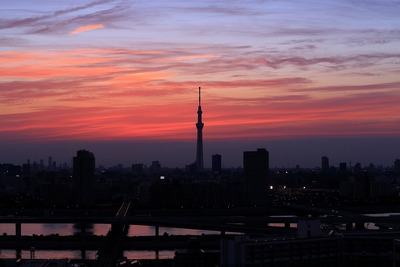 東京スカイツリー夕景