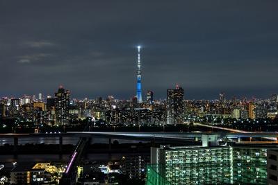 神奈川県をイメージした特別ライティング