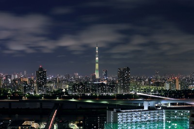 東京スカイツリー夜景「ブラジル国旗」