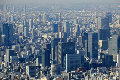 東京スカイツリーから見た東京タワー