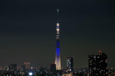 東京スカイツリー開業2周年記念特別ライティング『夜空』