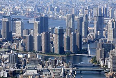 東京スカイツリーから見た月島・勝どき・晴海方面