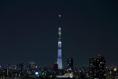 東京スカイツリー桜特別ライティング「咲」