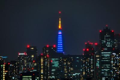東京タワーブルーライトアップ